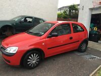 2003 Red Corsa, excellent for 1st time drivers, low mileage