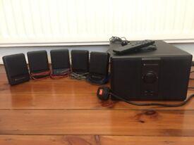 SPEAKERS Surround Sound Altec Lansing 5.1 SUBWOOFER + REMOTE