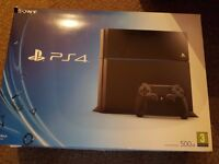 PS4 Play Station 4 Console with box, leads, controller just drive problem