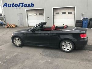 2011 BMW 128I Sport m6 * Cuir-rouge/ Red-leather * Convertible*