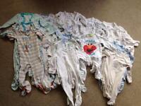 28 Boys Babygros in Various Sizes