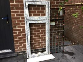 Eurocel Modus UPVC window frames and leaded glass