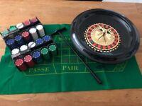 "Home Casino Games – Roulette / Blackjack / Poker (plus ""Texas Hold 'Em"" instructions)"