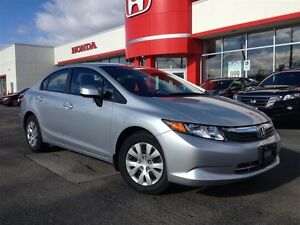 2012 Honda Civic LX| CVT| BLUETOOTH| ONE OWNER| ACCIDENT FREE