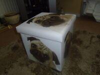 STORAGE BOX PUG,KITTENS OR TIGER BRAND NEW!!