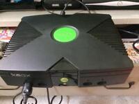Original XBOX console black plus 3 games
