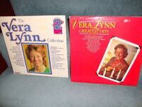 Two Vera Lynn albums (1 single and 1 double album) on vinyl