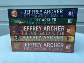 Jeffrey Archer 5 book set paperbacks brand new still wrapped