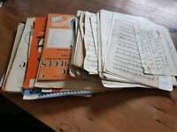 Music sheets and books