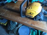 Petrol hedge trimmer 2 stroke engine hard to pull over spares or repair