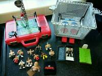 Wrestling rings and figures