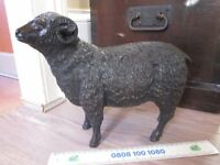 Rare Large Heavy Signed Antique Japanese Bronze Ram Meiji Period c1900 33cms Long (Aries)