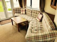 3 bed caravan for sale with double glazing & central heating at sandy bay holiday park