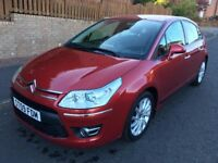 CITROEN C4 1.6 EXCLUSIVE 5 DOOR HATCH ** 09 PLATE ** 50,000 MILES FROM NEW **