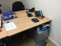 Various used office desk and chair for sale
