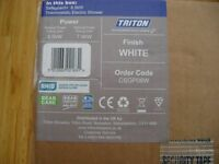 TRITON SAFEGUARD 8.5KW ELECTRIC SHOWER CSGP08W (NEW)