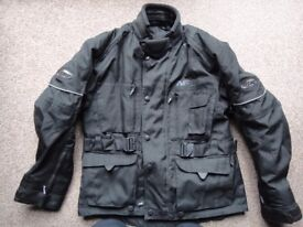 Nitro motor bike jacket size small with liner and padded