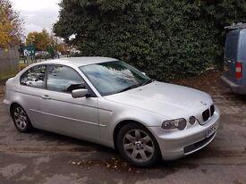 2002 BMW 316TI SE COMPACT SILVER - MOT until 09/04/17
