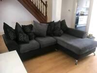 Corner Sofa with matching swivel cuddle chair