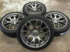 "18"" AUDI Gun Metal Wheels 5x112 and Winter Tires 245/40R18 (AUDI A4, S4, A8, A6...) Calgary Alberta Preview"