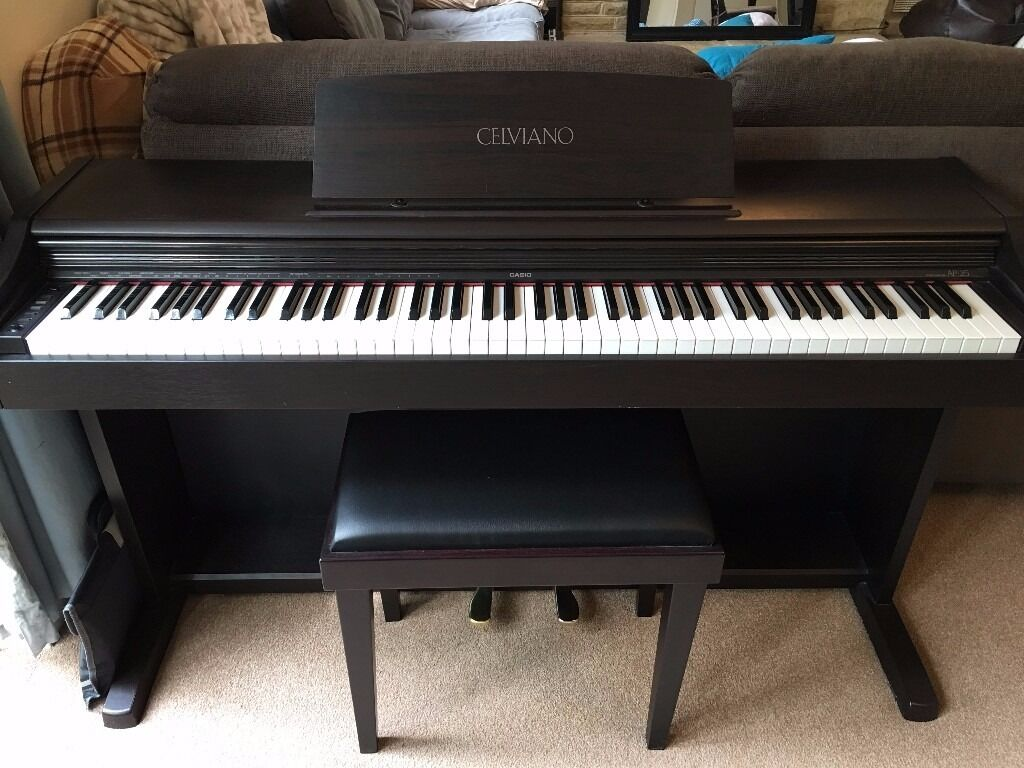 casio celviano ap 25 digital piano with seat in haslemere surrey gumtree. Black Bedroom Furniture Sets. Home Design Ideas