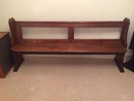 Gorgeous old church pew 2m long