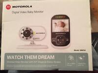 Boxed Motorola digital video Baby Monitor. Great condition.