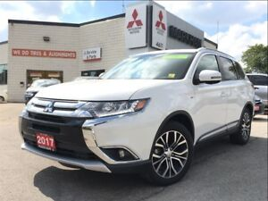 2017 Mitsubishi Outlander GT 0.9% (LEATHER, SUNROOF, HEATED SEAT