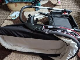 Pram/pushchair system comes with rain cover and changing bag wanting £140 ONO