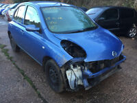 nissan mirca breaking for body parts 2004