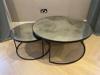 Notre Monde antique mirror coffee table set