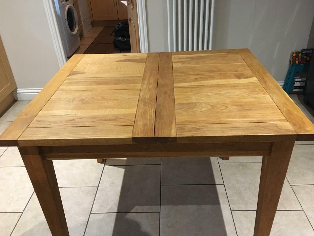 Solid Oak Extending Dining Table And 6 Solid Oak Chairs In Irvine