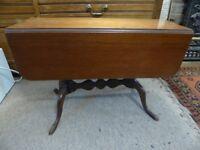 Coffee table, folding table, mahogany vintage table