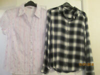 x1 ladies blouse and x1 ladies shirt £4 each or both for £6