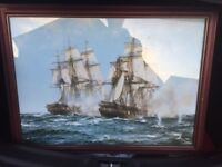 The Action Between Java And Constitution 1812 by Montague Dawson - Print