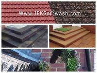 Driveways, Patios, Roofs, Windows, Decking, UPVC Cladding Fascia and Soffit, conservatories. Paths.