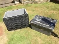 Tote/storage boxes with lid.