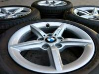 "16"" GENUINE BMW 1/3 SERIES ALLOY WHEELS & EXCELLENT TYRES 5X120(BMW,T5, VIVARO, INSIGNIA)"