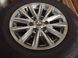 Mitsubishi L200 New alloy wheels and tyres
