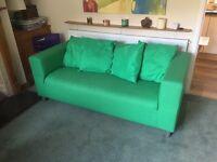 Nearly New Two Seater Sofa from IKEA (KLIPPAN Flackarp Green)