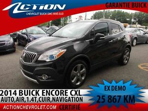 2014 BUICK ENCORE FWD LEATHER CXL,CUIR,NAVI,BLUETOOTH