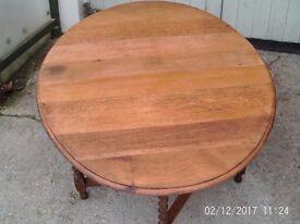 OAK DROP LEAF GATE-LEG OVAL (DOUBLE FLAPPED) DINING TABLE