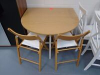 Brand New Drop Leaf Table And 4 Chairs. Already Built And Can Deliver