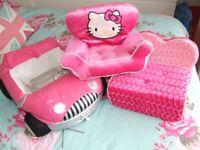 Build a Bear Teddy Sofa Hello Kitty Chair car & OG Dolls Moped Smoke Free Home