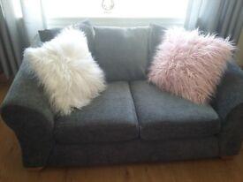 2 & 3 seater grey sofas