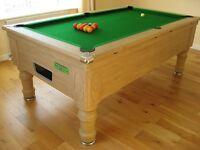 Heywood Pool & Snooker Supreme Prince Slatebed 7ft Pool Table English Oak/Green Cloth