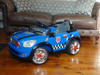 Blue Electric Mini Toy Car, Excellent Condition, hardly used
