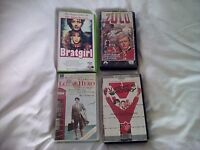 Vhs movies ZULU,ESCAPE TO VICTORY,LOCAL HERO,BRATGIRL