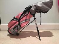 """Pink U.S. Kids Golf 39""""-27"""" Set and bag (Left-Handed)"""