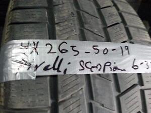199$ , 4 X 265-50-R19 PIRELLI SCORPION 5-32, BON 1 HIVER
